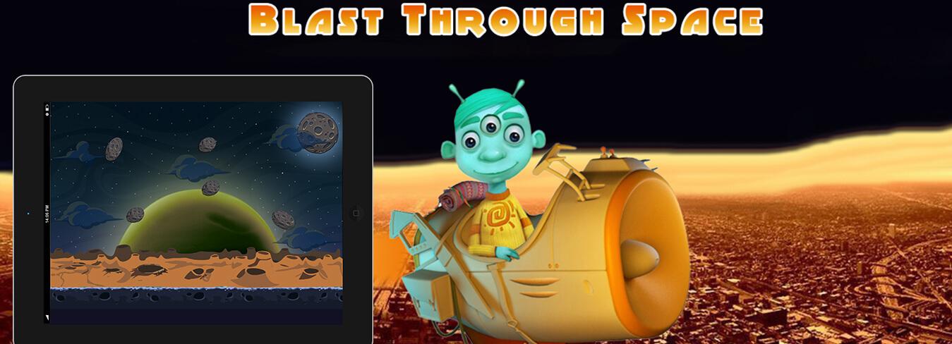 Blast through space game
