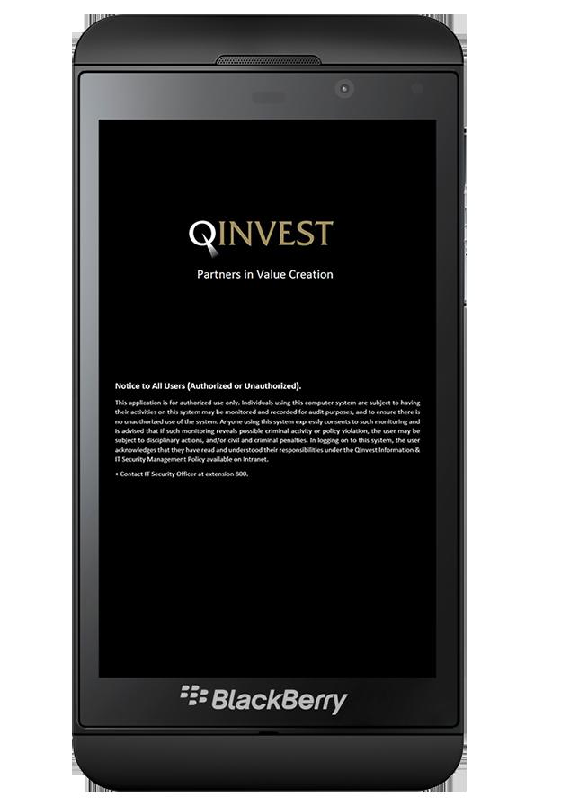 Qinvest-Blackberry application2