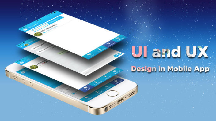 UI and UX Design in Mobile App